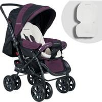Baby Home BH-555 Comfort Çift Yönlü Pedli Mor Bebek Arabası