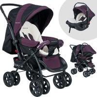 Baby Home BH-555T Comfort Çift Yönlü Pedi Mor Travel Sistem Bebek Arabası