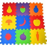 Akçiçek Eva Oyun Karosu Yer Matı Puzzle Meyveler Temalı 33 x 33