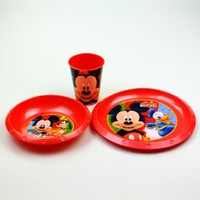 Disney Mickey Plastik 3'lü Set
