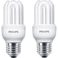 Philips Genie 8W 2'li Tasarruflu Ampul E27 Beyaz