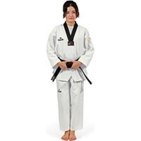 Daedo Taekwondo Elbisesi Siyah Yaka Nakışlı WTF Onaylı
