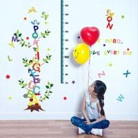 Crystal Kids Çocuk ve Bebek Odası Boy Ölçer Harfler PVC Duvar Sticker
