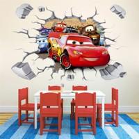 Crystal Kids Arabalar Filmi Şimşek Mcqueen 3 Boyutlu Dev PVC Duvar Sticker