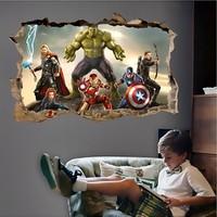 Crystal Kids Avengers Yenilmezler Süper Kahramanlar Çocuk ve Genç Odası 3D PVC Sticker