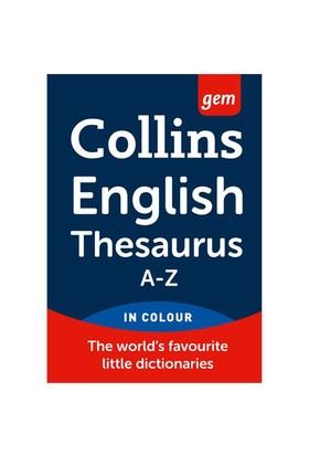 Collins Gem English Thesaurus A-Z-Kolektif