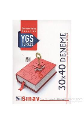 Sınav Ygs Türkçe 30X40 Deneme-Komisyon