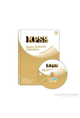 Derstakip Kpss İnteraktif Dvd Eğitim Seti