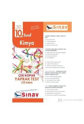 Sınav Dergisi Kimya Yaprak Test (32 Adet)