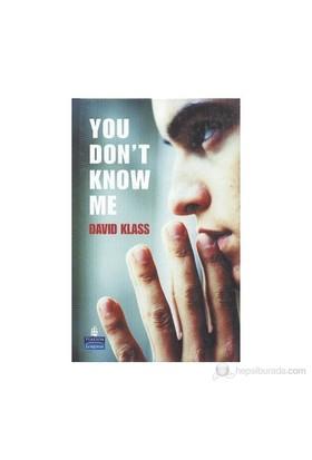 You Don'T Know Me-David Klass