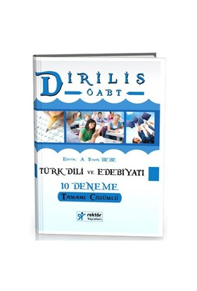 Rektör Yayınları Kpss Diriliş Öabt Türk Dili Ve Edebiyatı Tamamı Çözümlü 10 Deneme