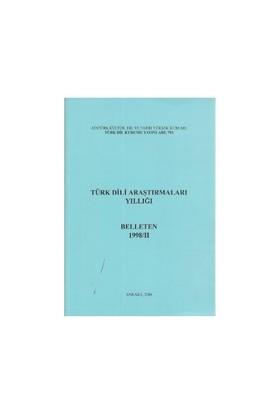Türk Dili Araştırmaları Yıllığı - Belleten 1998 / 2-Kolektif