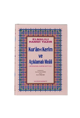 Cami Boy Kur'an-ı Kerim ve Açıklamalı Meali (Cami Boy)