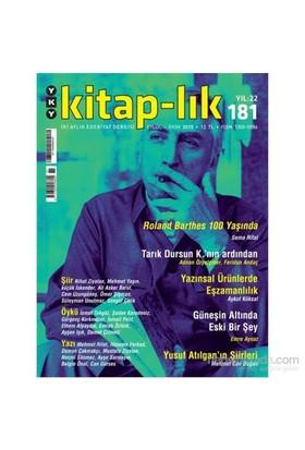 Kitap-Lık Eylül, Ekim 2015 Sayı: 181-Kolektif