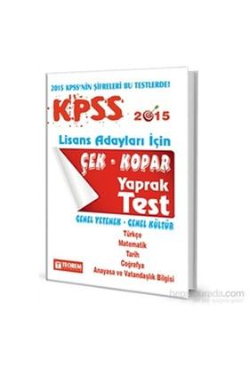 Teorem 2015 Kpss Gy-Gk Çek Kopart Yaprak Test-Kolektif