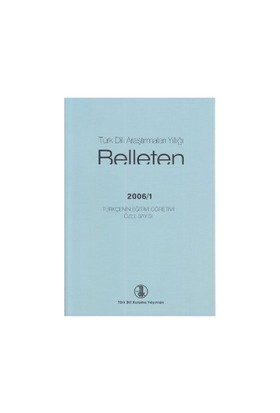 Türk Dili Araştırmaları Yıllığı - Belleten 2006 / 1-Kolektif