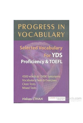 Progress In Vocabulary Selected Vocabulary For Yds Proficiency Toefl-Hakan Cihan