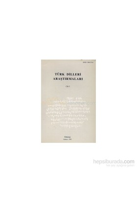 Türk Dilleri Araştırmaları Yıllığı 1995 Cilt: 5