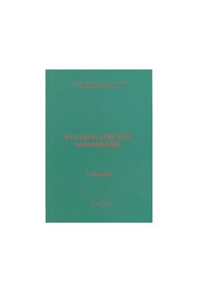 Batı Grubu Türk Yazı Dillerinde Fiil-Ayşe İlker