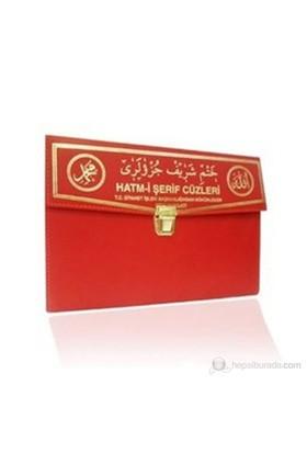 Kur'an-ı Kerim 30 Cüz Hatim Seti (Rahle Boy, Çantalı, Kırmızı Kapak, Kod: 102)