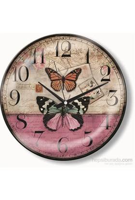 Kelebekler Duvar Saati