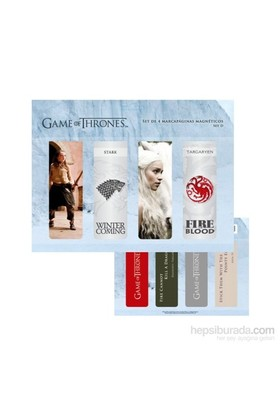 Game Of Thrones Magnetic Bookmark Set D Manyetik Kitap Ayracı