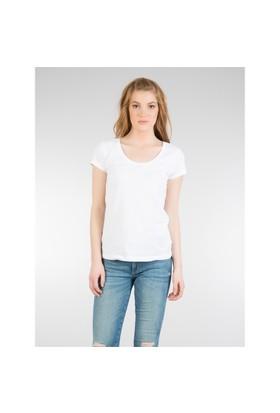 Colin's Beyaz Kadın Tshirt Kısa Kol