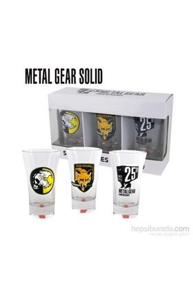 Metal Gear Shotglasses Set Of 3 Espresso Shot Bardağı Seti