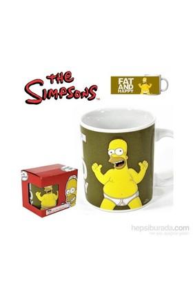 The Simpsons: Fat & Happy Mug Kupa Bardak