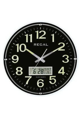 Regal 0543-Bblz Fosforlu Takvimli Isı Ölçer Duvar Saati