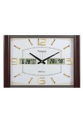 Regal 1801-Awz Takvimli Isı Ve Nem Ölçer Duvar Saati