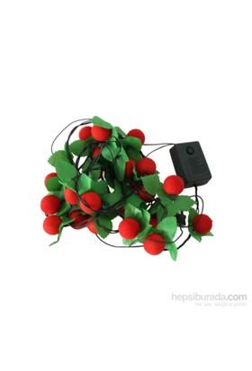 KullanAtMarket Kırmızı Yılbaşı Topları Renkli Işık