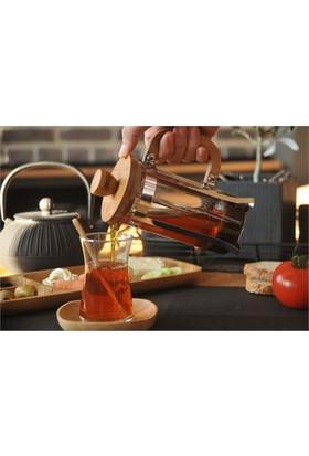 Bambum Silva Kare 6 Lı Çay Tabağı - Bambu Çay Tabak