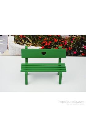Cosiness Ahşap Biblo Mini Bank Yeşil