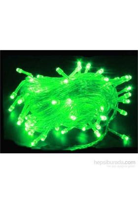 Act 100 Lü Led Işık Yılbaşı Ağacı Aydınlatma 10 Metre Yeşil