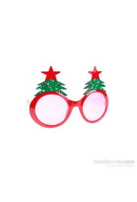 KullanAtMarket Kırmızı Yılbaşı Ağacı Gözlük 1 Adet
