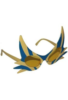 Pandoli Şimşek Şekilli Eğlenceli Parti Gözlüğü Sarı