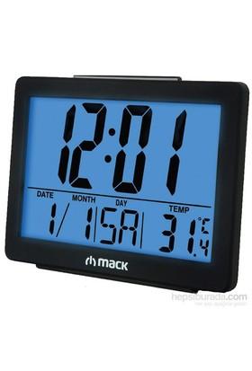 MACK MCT-8017 BL Siyah Dijital Alarmlı Masa Saati