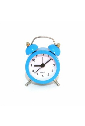 Gold Dekor Mini Çalar Saat Mavi