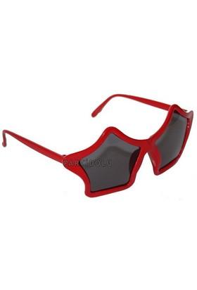 Pandoli Yıldız Süper Star Parti Gözlüğü Kırmızı