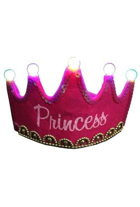 Pandoli Prenses Parti Tacı Işıklı Fuşya Pembe