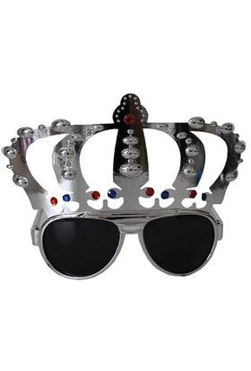 Pandoli Kral Tacı Şekilli Parti Gözlüğü - Gümüş