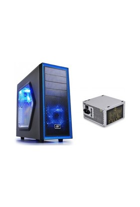 Deep Cool Tesseract SW 450W 1xUSB 2.0, 1xUSB 3.0, 1xMic Siyah ATX Kasa
