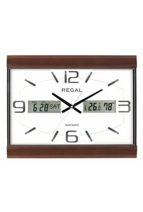 Regal Awz0101 Isı Ve Nem Göstergeli Takvimli Ahşap Duvar Saati