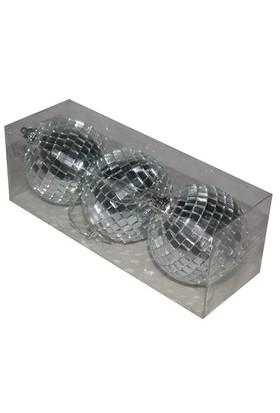 Pandoli 8 Cm Silver Renk Aynalı Disko Topu 3 Adet Süs