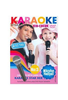 Karaoke Star No: 3 Çocuklar İçin 6-12 (Mikrofon Hediyeli)
