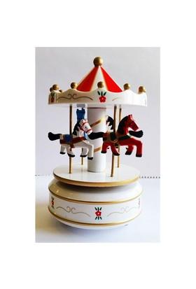 Köstebek Beyaz - Kırmızı Atlı Karınca Carousel Müzikli