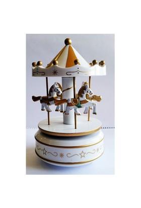 Köstebek Beyaz Atlı Karınca Carousel Müzikli