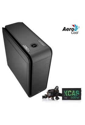 Aerocool DS200 600W 80Plus 2xUSB3.0 SSD Ready Mid Tower Kasa (AE-DS200-600)