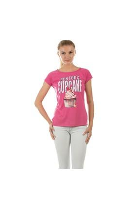 Colin's Fuşya Kadın Tshirt Kısa Kol